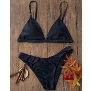 Black Print Cheeky Bikini
